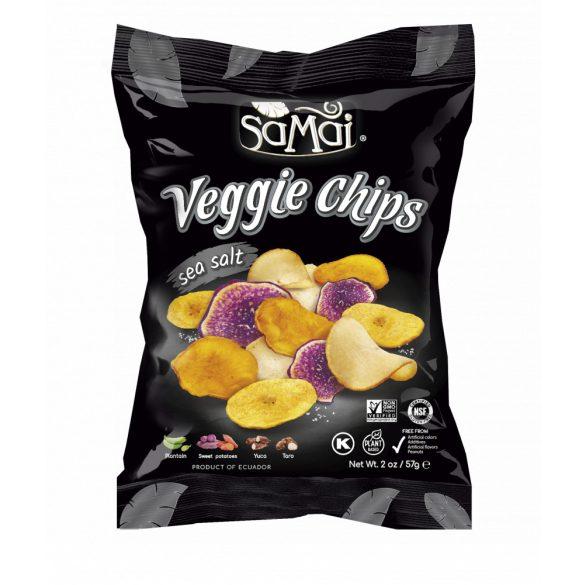 Rainforest zöldség chips tengeri sós 57g SAMAI