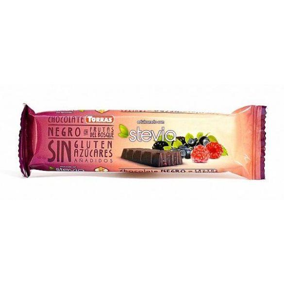 Erdei gyümölcsös étcsokoládé 35g TORRAS