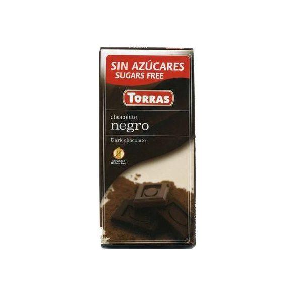 Étcsokoládé maltitollal 75g TORRAS
