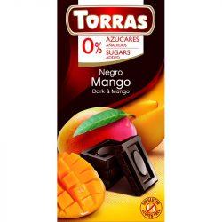 Mangós étcsokoládé maltitollal 75g TORRAS
