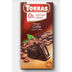 Kávés étcsokoládé maltitollal 75g TORRAS