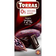 Étcsokoládé 72% kakaóval 75g TORRAS