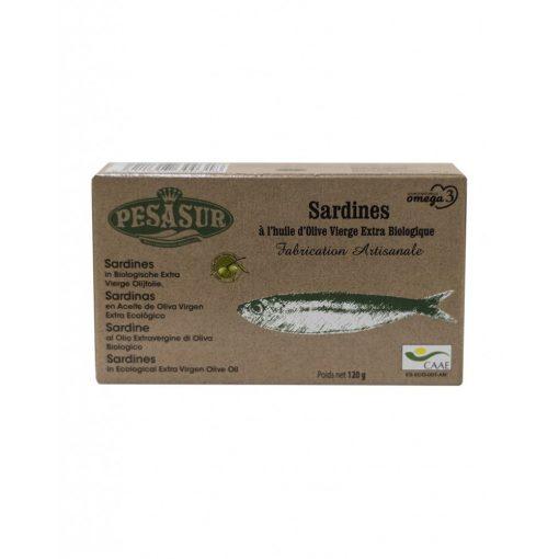 Szardínia filé BIO extra szűz olívaolajb an 120g Pesasur
