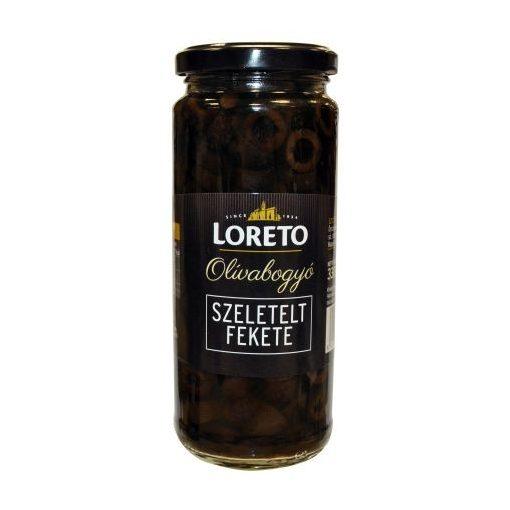Fekete szeletelt olívabogyó 430g/230g Loreto