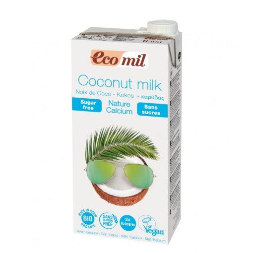 Kókuszital édesítő nélkül kalciummal BIO 1l Ecomil