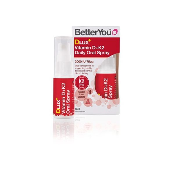 D3 + K2 vitamin szájspray 12ml BetterYou Dlux 30 napi adag