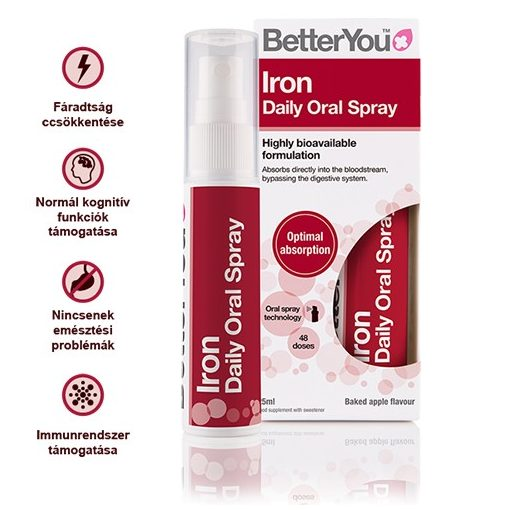 Iron (vas) szájspray 25ml BetterYou