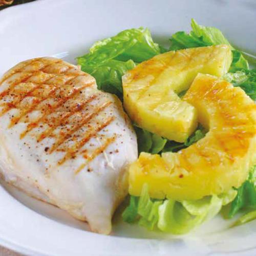 grillezett csirkemell grillezett ananásszal