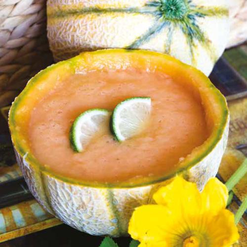kókusztejes sárgadinnye- krémleves