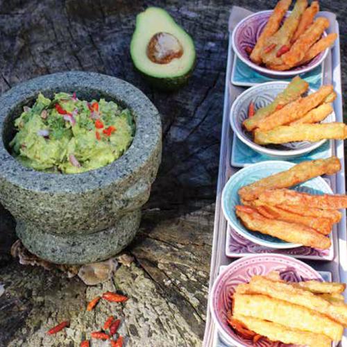 korianderes-mentás guacamole