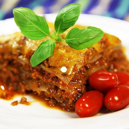 Lasagne NoCarb módra