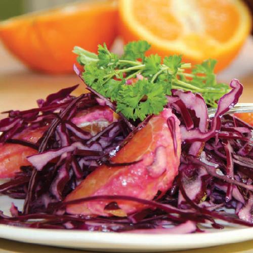 narancsos lilakáposzta-saláta