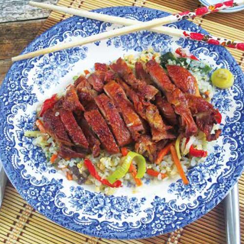 pekingi kacsamell wokzöldséggel