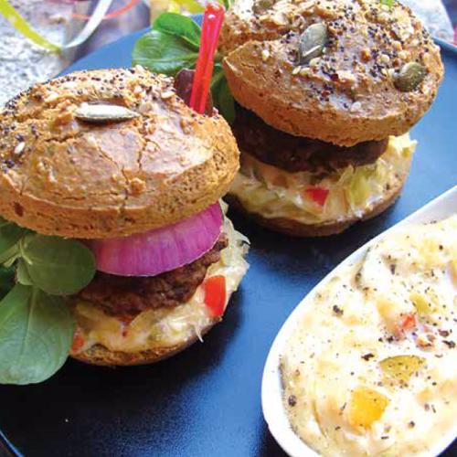 retro hamburgervariációk ház csalamádészósszal