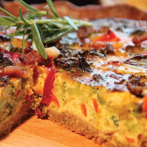 """Zöldfűszeres """"napfény íze"""" pite"""