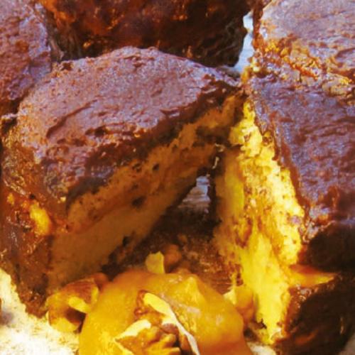 Zserbó-muffin körtével újragondolva