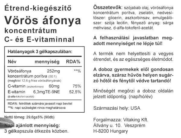 Tőzegáfonya koncentrátum (90) VK