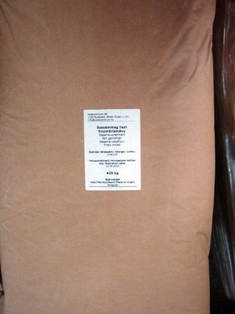 Szezámliszt teljes kiőrlésű 25kg lédig