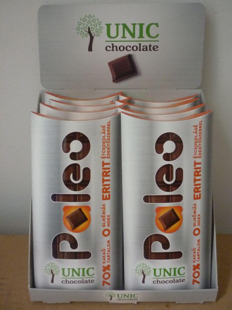 Paleo étcsokoládé eritrittel 80g UNIC