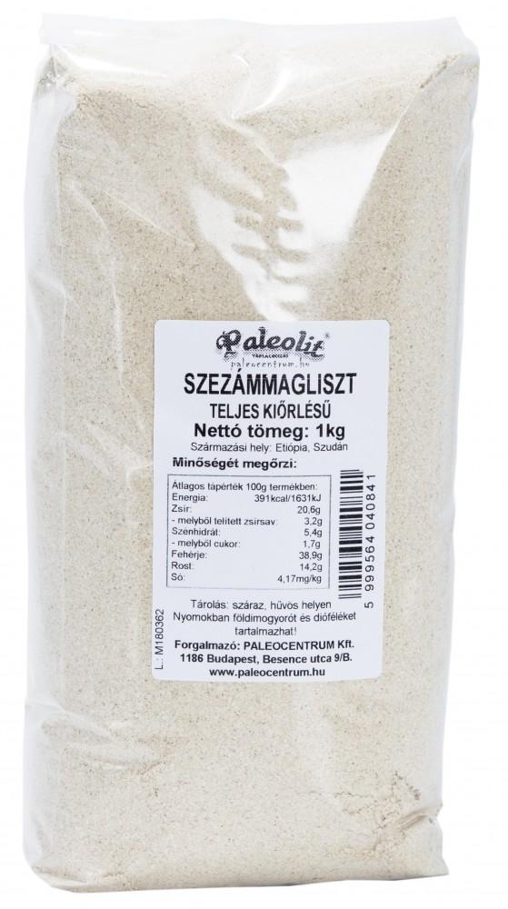 Szezámliszt teljes kiőrlésű 1kg Paleolit