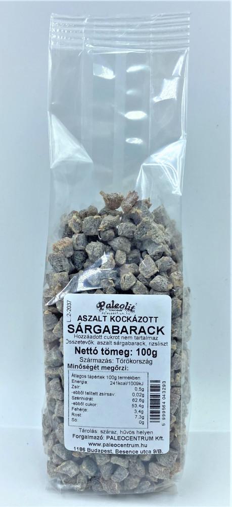 Aszalt sárgabarack kocka cukor- és  kénmmentes 100g