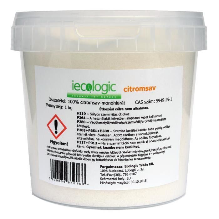 Citromsav 1kg iecologic