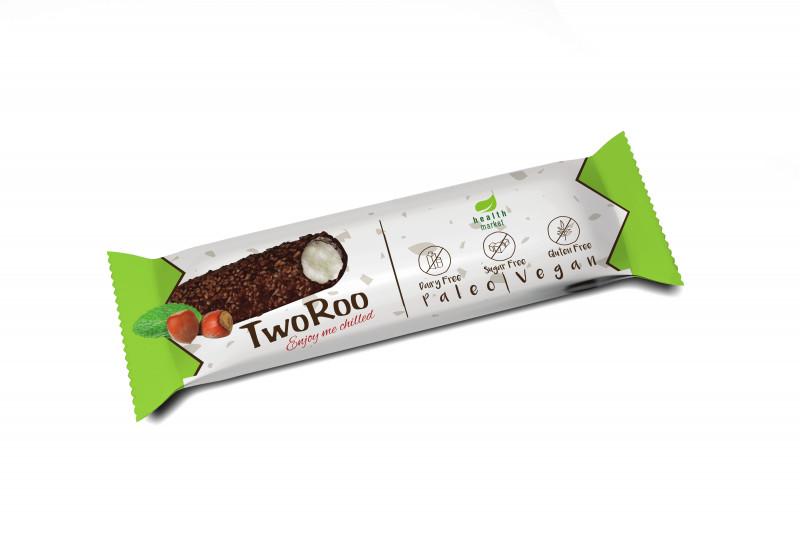 TwoRoo mogyorós étcsokoládéval mártott citrom-vanília ízű szelet 30g