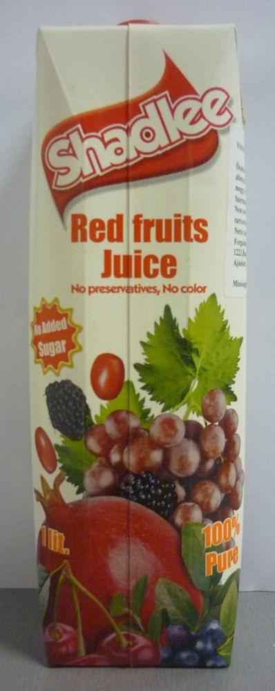 Vörös gyümölcs juice 100% 1l Shadlee