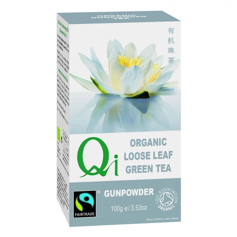 Zöld szálas tea Gunpowder BIO 100g Qi