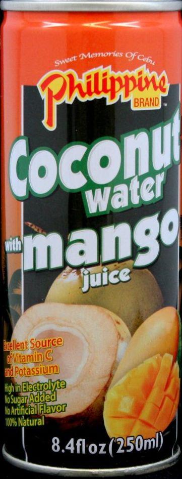 Kókuszvíz + mangó juice 250ml Philippine