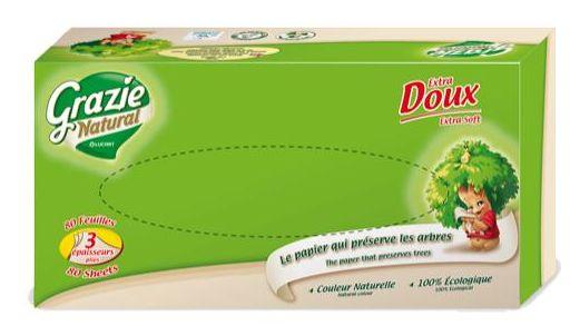 Öko papírzsebkendő dobozos 80 lap GN