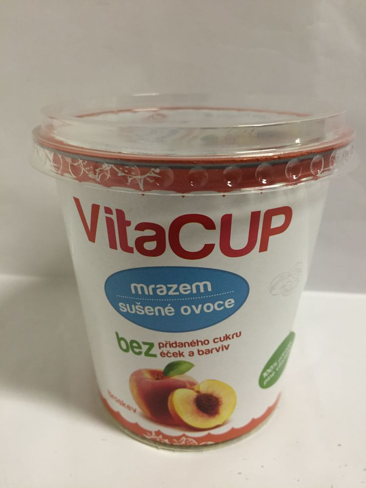 Liofilizált őszibarack szeletek 20gr VitaCup