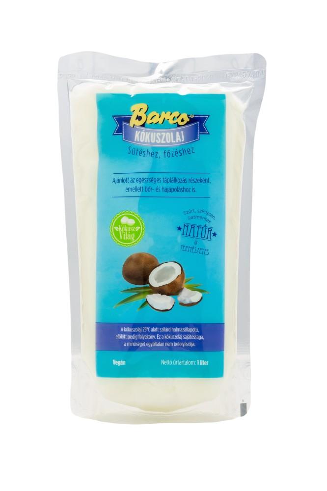 Kókuszolaj (utántöltő) 1l Barco
